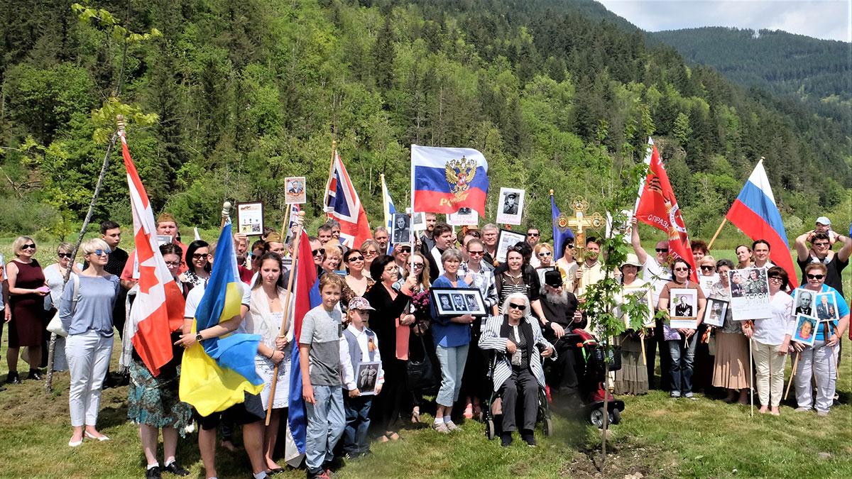 6 мая 2018 Бессмертный полк Ванкувера в Монастыре Всех Святых